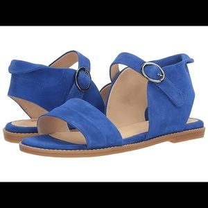 Hush puppies Abia Chrissie Vl blue Suede sandal